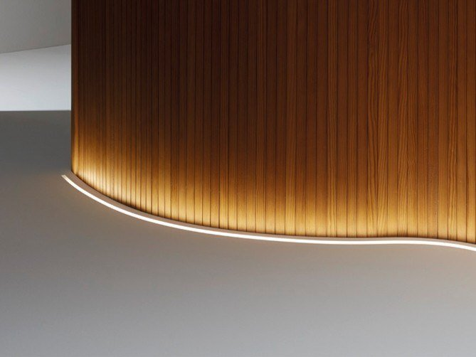 Polyurethane linear lighting profile for LED modules ASAI SIDE BEND by LEDS C4