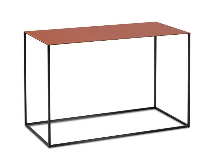 Rectangular leather side table ASCOT JR-T938   Rectangular coffee table by JORI