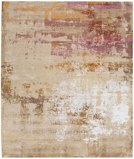 Handmade rectangular rug ASEDA BRUKET by HENZEL STUDIO
