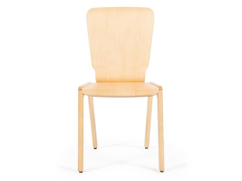 Stackable ash chair TIPRO | Ash chair by UBIKUBI