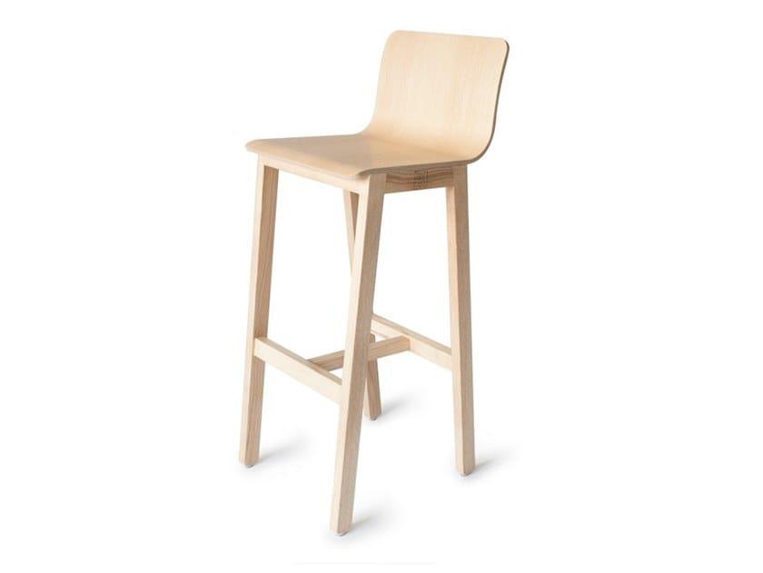 High ash stool with footrest VERSION 3   Ash stool by UBIKUBI