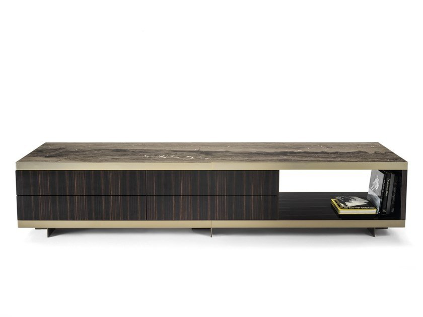 Wooden sideboard with drawers ASPEN-EVO | Sideboard with drawers by Longhi
