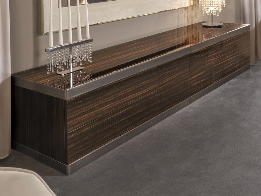Wooden sideboard with doors ASPEN | Wooden sideboard by Longhi
