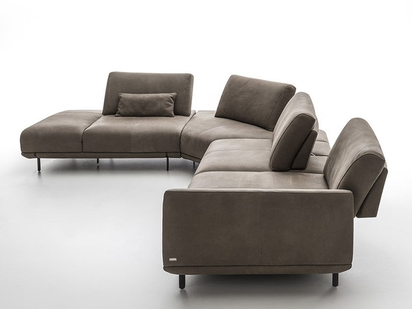 Corner leather sofa ASSAGO | Corner sofa by NICOLINE