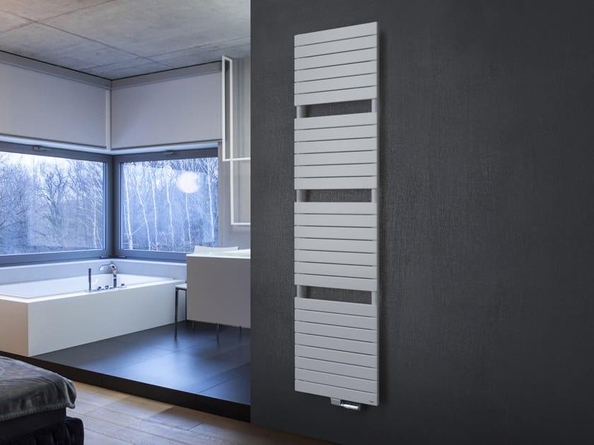 Wall-mounted steel towel warmer ASTER by VASCO