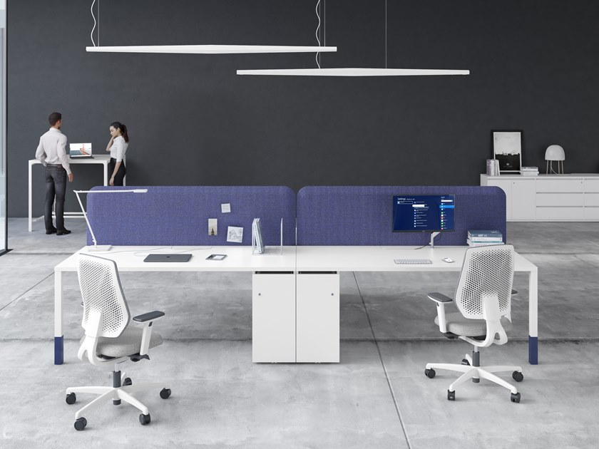 Multiple office workstation ASTERISCO APP - TOP FLY by ESTEL GROUP