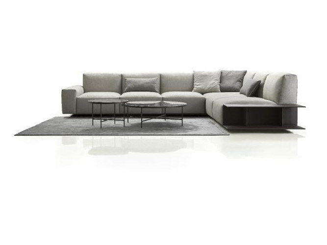 Corner modular fabric sofa with removable cover ASTON | Corner sofa by Papadatos