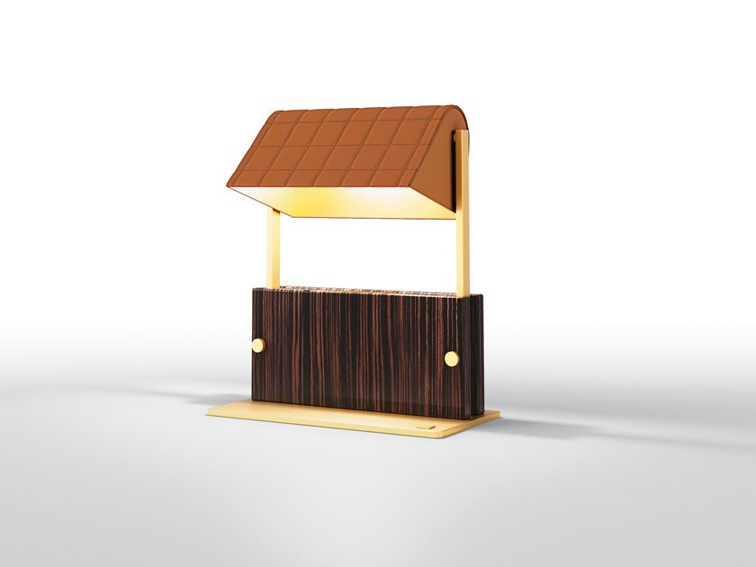 Adjustable ebony table lamp ASTORIA | Table lamp by BRUNO ZAMPA