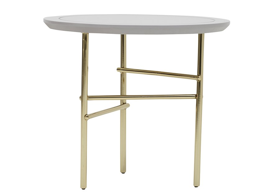 Round high table in MDF and metal ASTORIA | High side table by Enza Home
