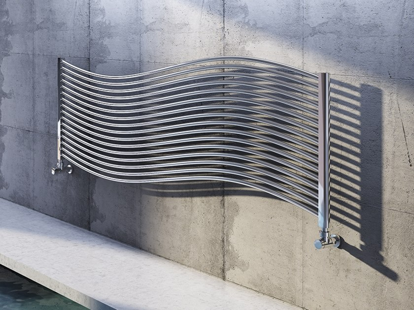 Horizontal wall-mounted steel decorative radiator ASTRA S by XÒ by Metalform