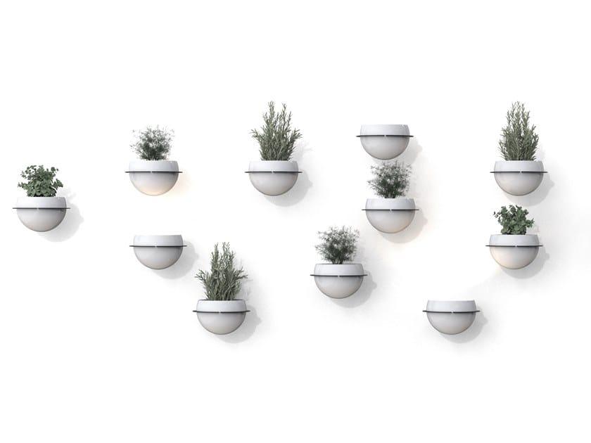 Vaso da parete in metallo ASTRA | Vaso da parete by BLOSS