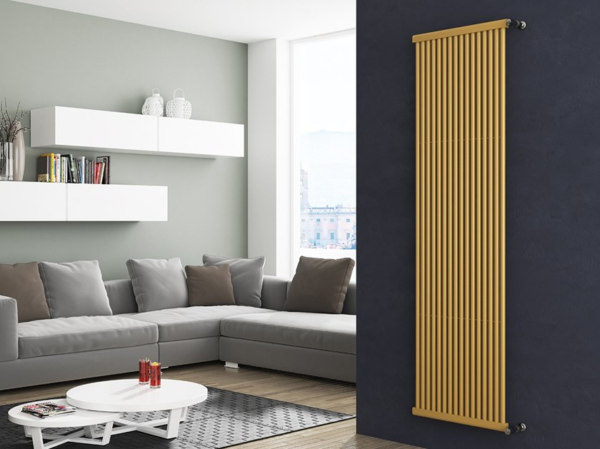 Vertical wall-mounted steel decorative radiator ASTRA by XÒ by Metalform