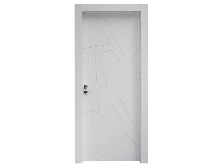 Hinged lacquered wooden door ASTRATTA by NUSCO