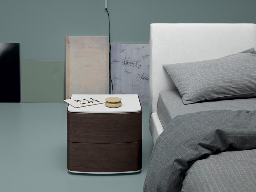 Lacquered bedside table with drawers ASTRID | Bedside table by Md House