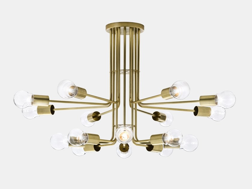 Brass ceiling lamp ASTRO 276.10.ONT by Il Fanale