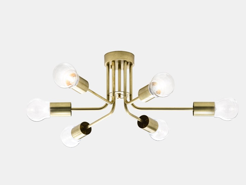 Brass ceiling lamp ASTRO 276.11.ONT by Il Fanale