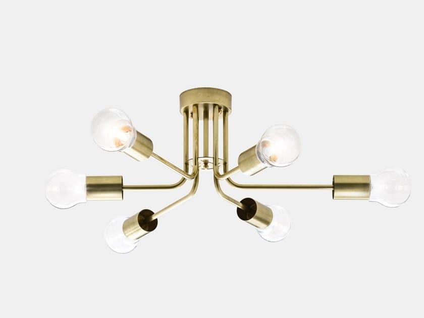 Lampada da soffitto in ottone ASTRO 276.11.ONT by Il Fanale