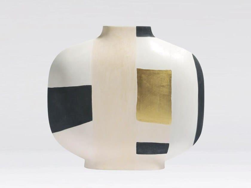Vaso fatto a mano in argilla ASTRATTO PALMA BASSA by Kose