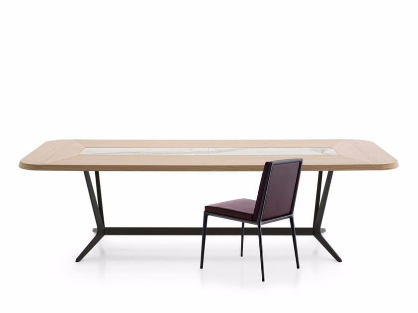 Rectangular wooden living room table ASTRUM | Rectangular table by Maxalto