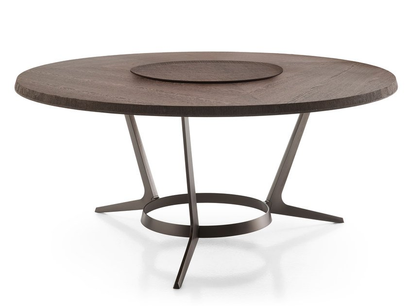 Round wooden living room table ASTRUM | Round table by Maxalto