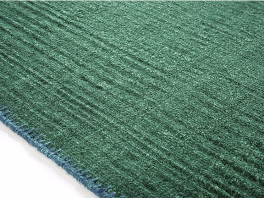 Solid-color rectangular fabric rug ATACAMA by Élitis