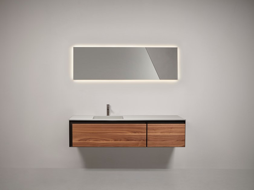 Sectional wall-mounted vanity unit ATELIER by Antonio Lupi Design
