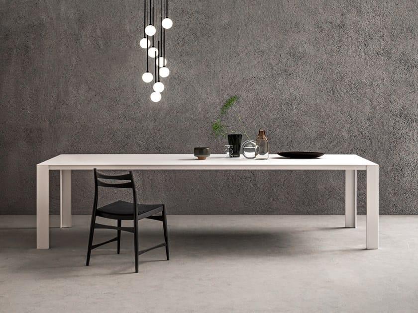 Tavolo laccato rettangolare in Solid Surface ATELIER | Tavolo laccato by Capo d'Opera