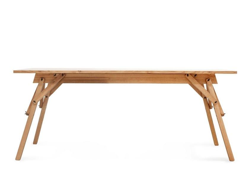 Rectangular oak writing desk ATELIER | Writing desk by UBIKUBI