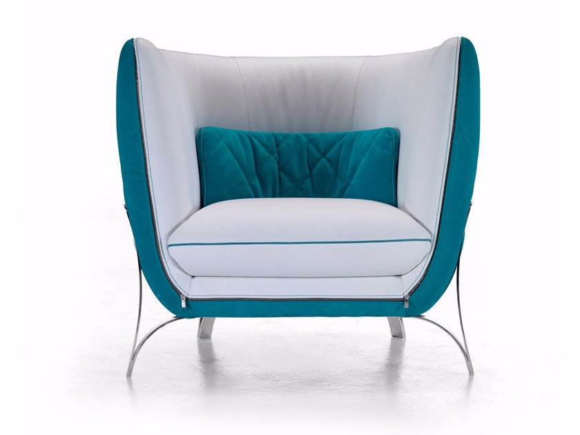 Leather armchair ATENA | Armchair by Borzalino