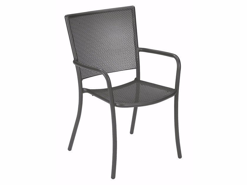 Stackable garden chair with armrests ATHENA | Chair with armrests by emu