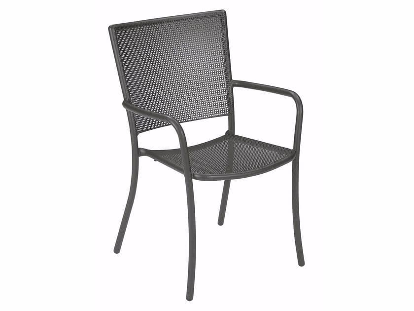Sedia da giardino impilabile con braccioli ATHENA | Sedia con braccioli by emu