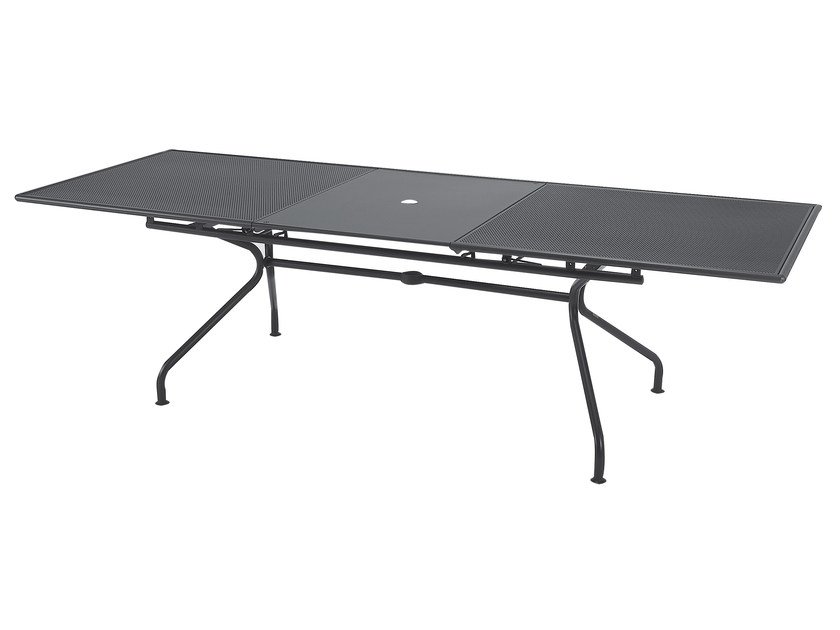 Extending steel garden table ATHENA | Extending table by emu