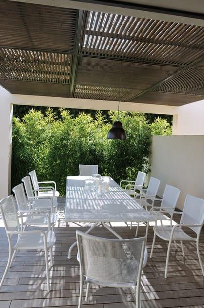 Tavoli Da Giardino Emu.Tavolo Allungabile Da Giardino In Acciaio Athena Tavolo Da