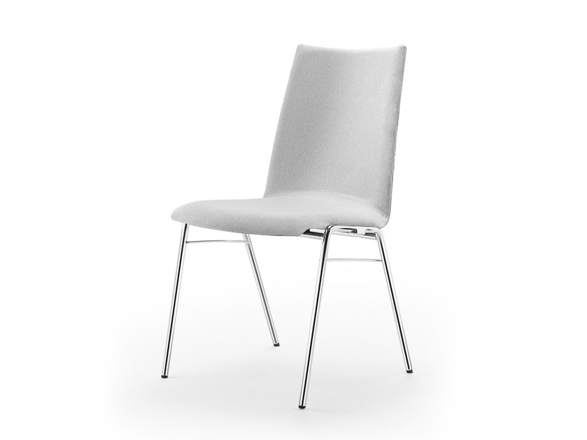 Upholstered stackable fabric chair ATLANTA 450 | Upholstered chair by rosconi