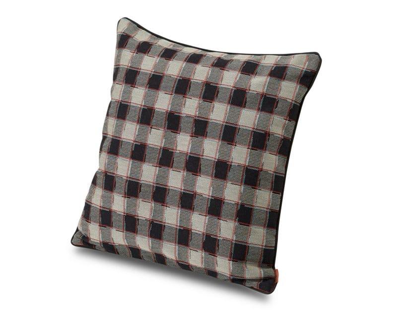 Cuscino in tessuto jacquard motivo scacchi ATLANTA by MissoniHome