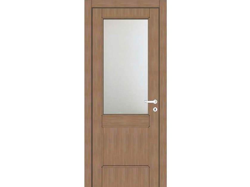 Hinged wood and glass door ATLANTE A61V1 ZAFFIRO by GD DORIGO
