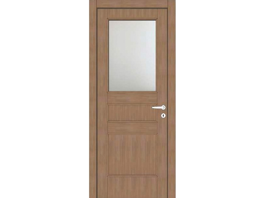 Hinged wood and glass door ATLANTE A78V1 ZAFFIRO by GD DORIGO