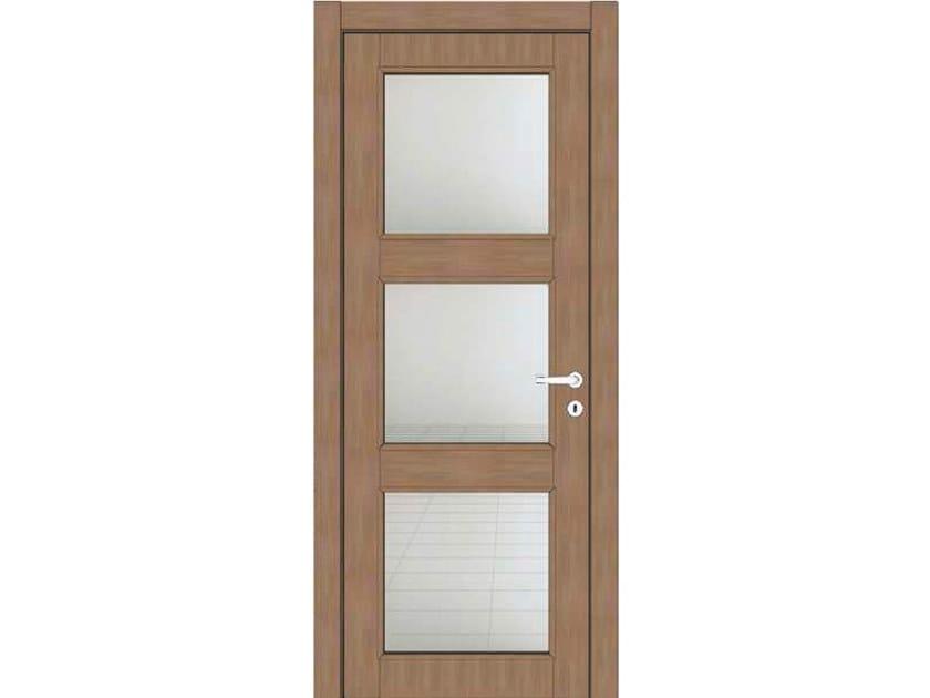 Hinged wood and glass door ATLANTE A79V3 ZAFFIRO by GD DORIGO