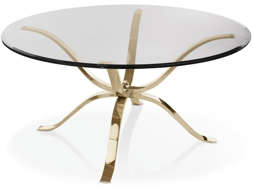 Round glass table ATLANTE | Round table by Cantori