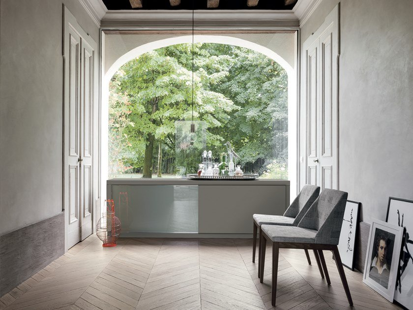 Lacquered sideboard with sliding doors ATLANTE | Sideboard by Gruppo Tomasella