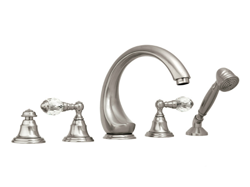 5 hole bathtub set with Swarovski® crystals ATLANTICA   Bathtub set with Swarovski® crystals by Bronces Mestre