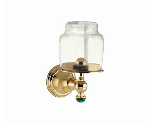 Wall-mounted glass toothbrush holder ATLANTICA PRECIOUS | Glass toothbrush holder by Bronces Mestre