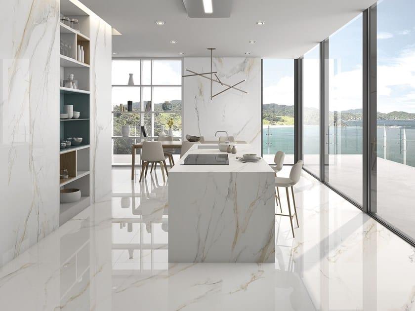 Ultra thin Sintered ceramic wall/floor tiles ATLANTIS GOLD | Sintered ceramic wall/floor tiles by ITT Ceramic