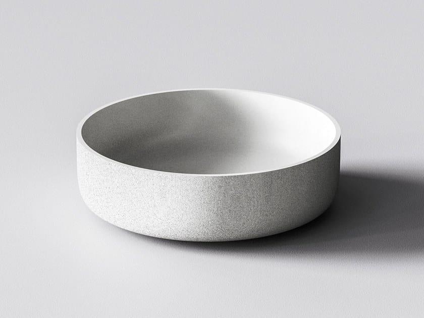 3D printed quartz sand washbasin ATLAS by Sandhelden