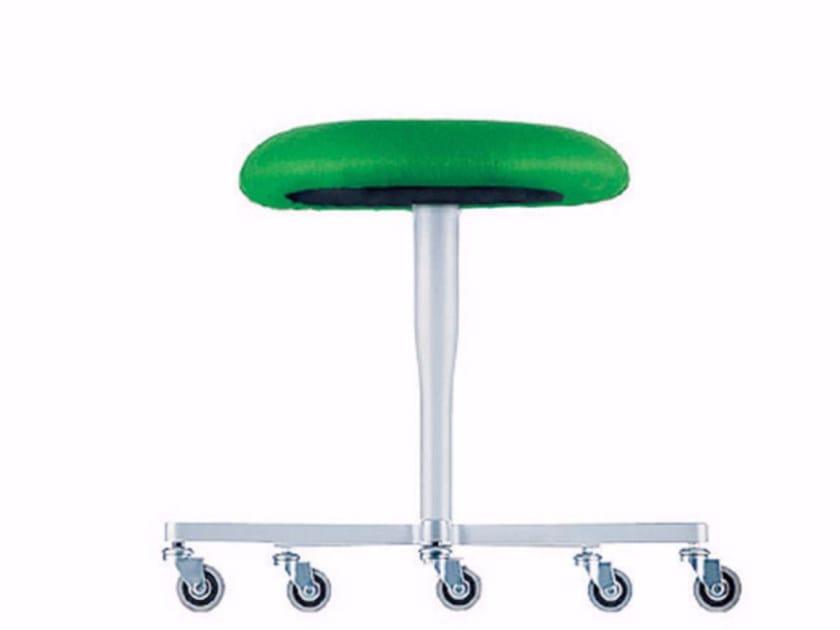 Swivel stool with casters ATLAS STOOL - 752 by Alias