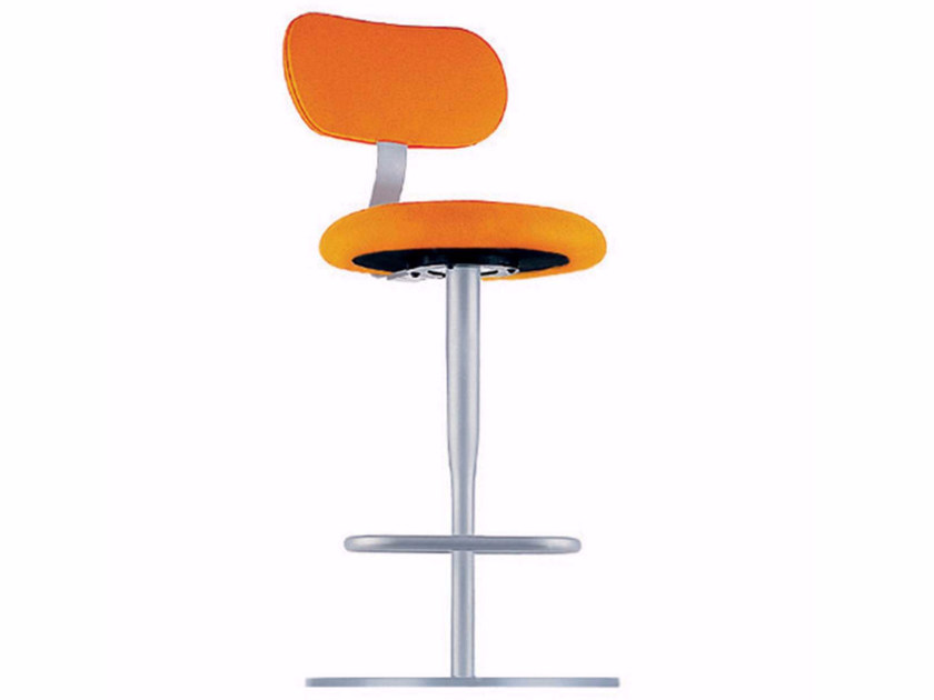 Swivel height-adjustable chair with footrest ATLAS STOOL - 759 by Alias
