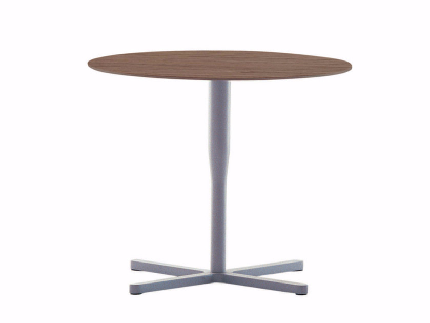 Round table with 4-star base ATLAS TABLE - D by Alias