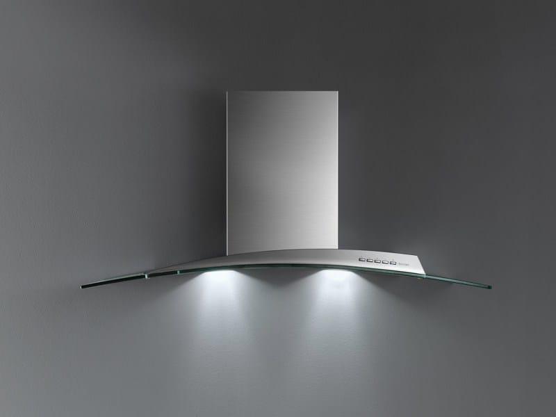 Cappa ad isola in acciaio inox e vetro ATLAS VETRO by Falmec
