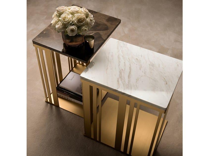 Tavolino di servizio rettangolare in marmo ATMOSFERA | Tavolino by ADORA