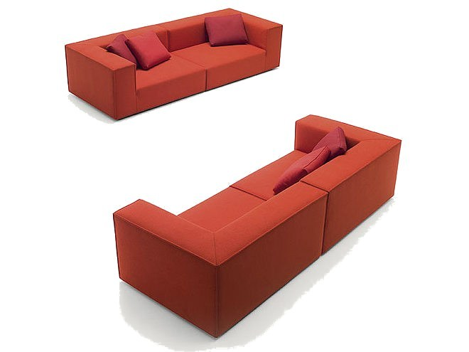 Sectional 3 seater fabric sofa ATOLLO M | 3 seater sofa by paola lenti